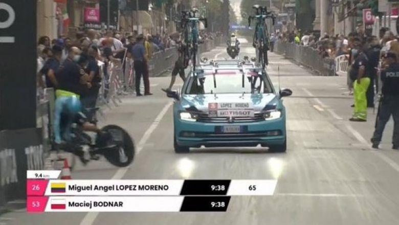 Tour d'Italie - Miguel Angel Lopez chute lourdement et abandonne