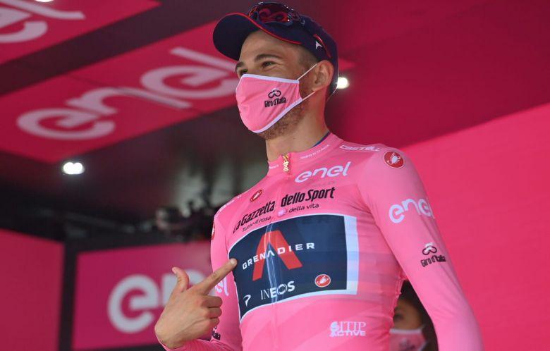 Tour d'Italie - Filippo Ganna : «Ce maillot rose, c'est fantastique»