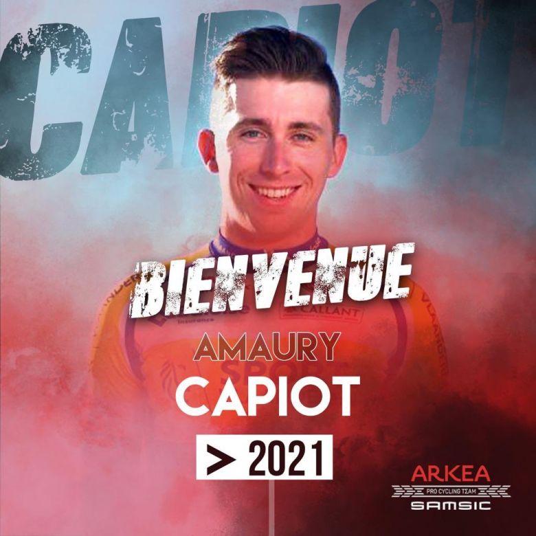 Transfert - Amaury Capiot s'engage un an chez Arkéa-Samsic