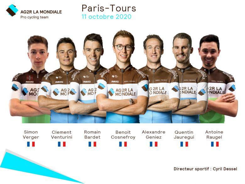 Paris-Tours - AG2R La Mondiale avec Cosnefroy, Bardet et Venturini