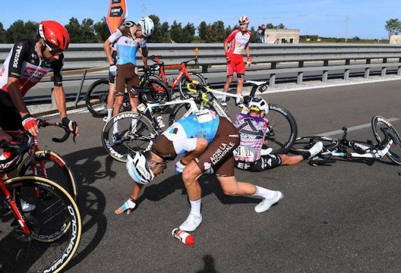 Tour d'Italie - Fracture du poignet gauche pour Tony Gallopin