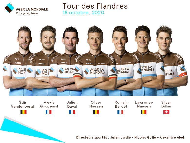 Tour des Flandres - Oliver Naesen leader d'AG2R La Mondiale