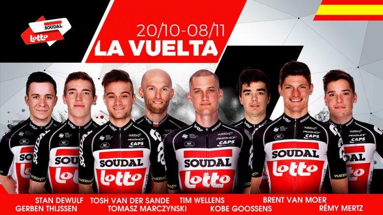 Tour d'Espagne - La Lotto-Soudal avec Tim Wellens et 4 néophytes