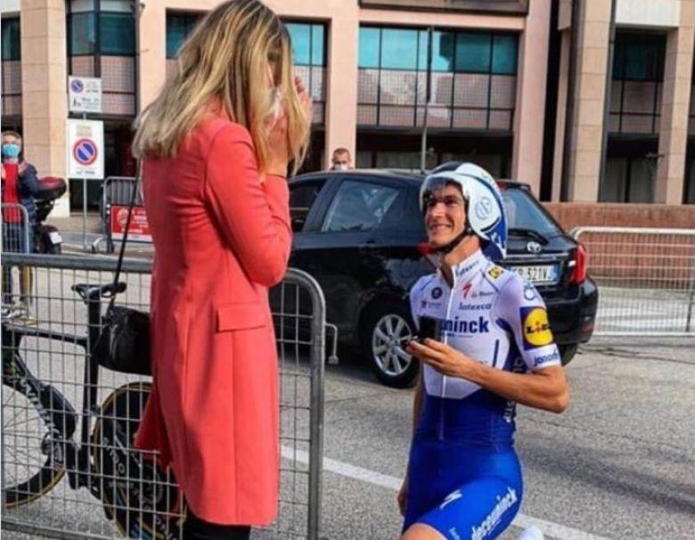 Tour d'Italie - Honoré et sa demande en mariage... avant le chrono !