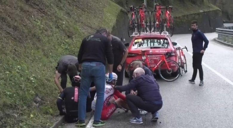 Tour d'Italie - Jhonatan Narvaez et Nico Edet abandonnent sur chute