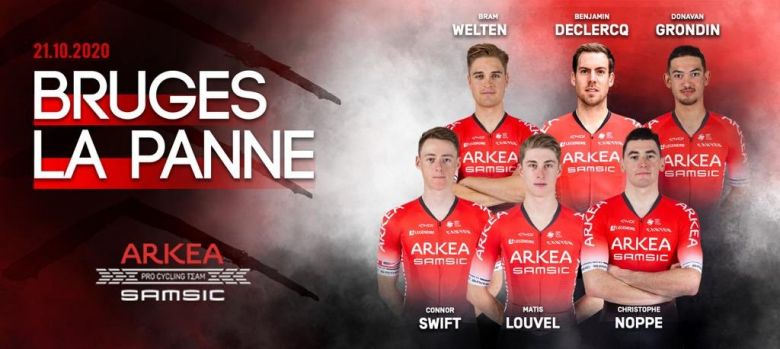 Bruges-La Panne - Arkéa-Samsic avec Connor Swift et Benjamin Declercq