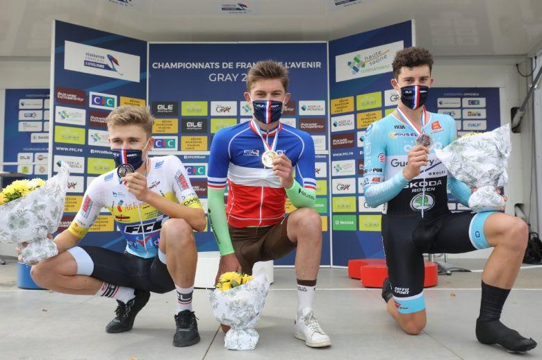 France - CLM - Thomas Delphis champion de France espoirs du chrono