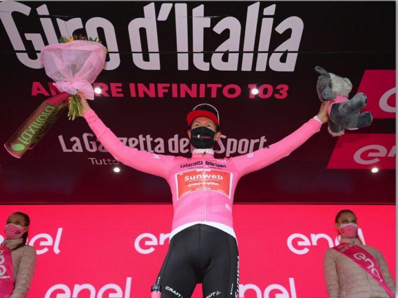Tour d'Italie - Wilco Kelderman en rose : «J'ai couru pour moi-même !»
