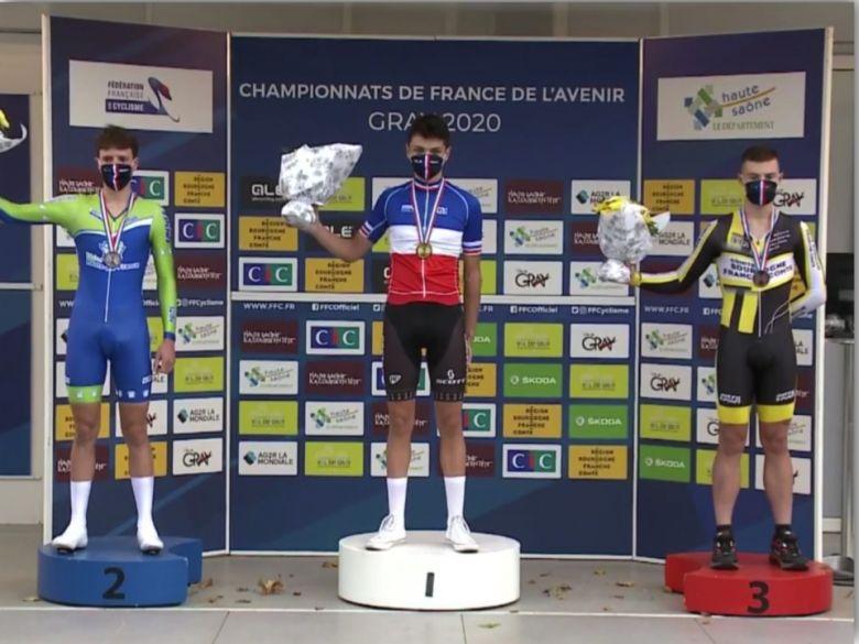 France - CLM - Eddy Le Huitouze titré chez les juniors devant Paleni