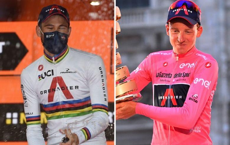 Tour d'Italie - Ganna : «C'est pour Tao que je suis le plus heureux»