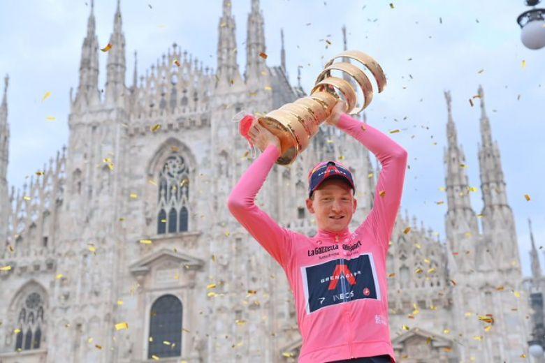 Tour d'Italie - Bradley Wiggins : «Geoghegan Hart est un champion»