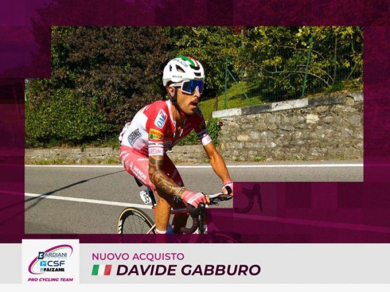 Transfert - Davide Gabburo rejoint l'équipe Bardiani-CSF-Faizanè