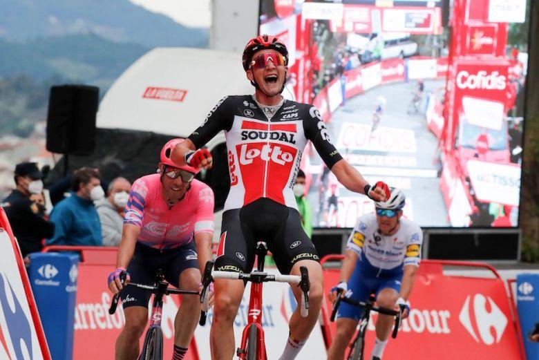 Tour d'Espagne - Tim Wellens gagne en costaud devant Woods et Stybar