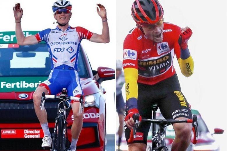 Tour d'Espagne - Etape et top 10 pour Gaudu, Roglic a eu très chaud !