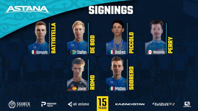 Transfert - Sobrero, Battistella... Astana officialise six recrues !