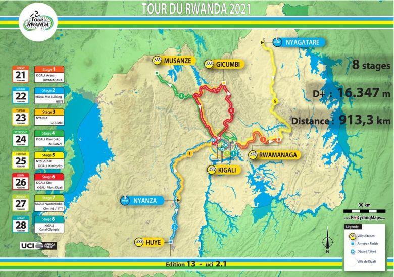 Tour du Rwanda - Tout savoir sur l'édition 2021 du Tour du Rwanda