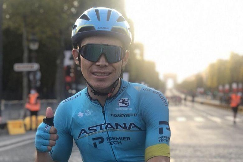 Route - Le bel hommage de la formation Astana à Miguel Angel Lopez