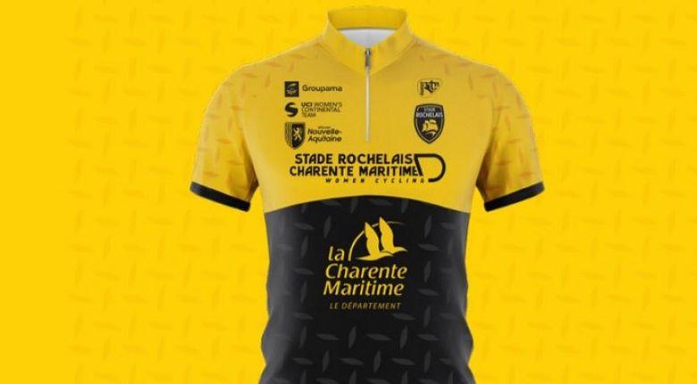 Route - L'effectif et le maillot du Stade Rochelais Charente-Maritime