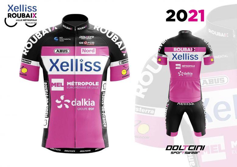Route - Xelliss Roubaix Lille Métropole dévoile son maillot pour 2021