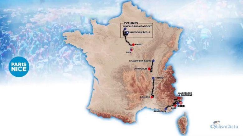 Paris-Nice - Pour tout savoir sur le parcours du 79e Paris-Nice !