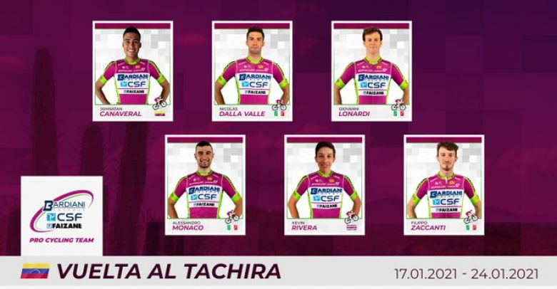 Tour du Tachira - Bardiani-CSF-Faizanè avec Rivera et Lonardi