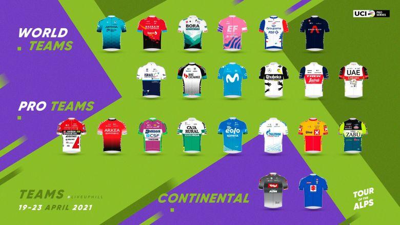 Tour des Alpes - Un record de 12 formations WorldTour au départ