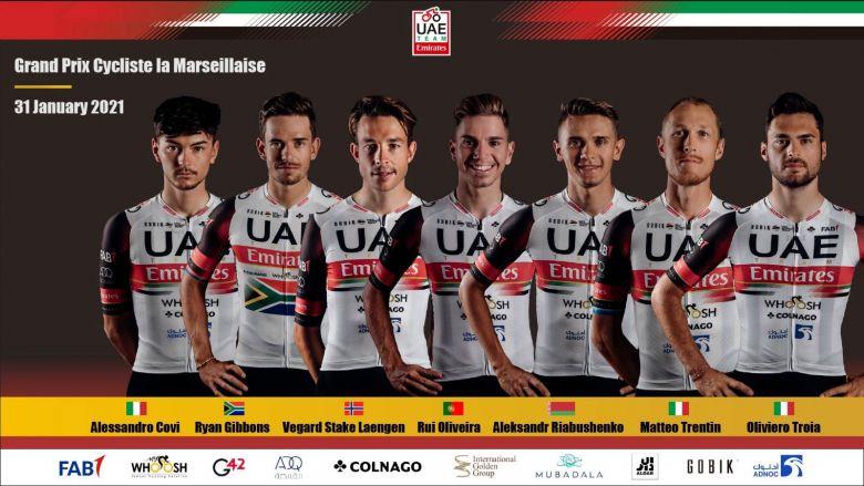 GP La Marseillaise - Matteo Trentin leader d'UAE Team Emirates