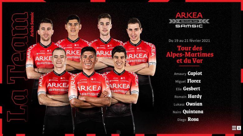 Tour du Haut-Var - Nairo Quintana leader de l'équipe Arkéa-Samsic