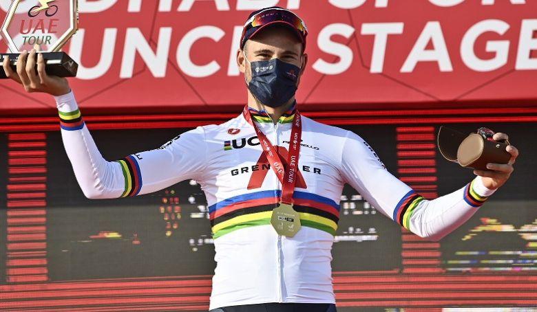 UAE Tour - Ganna, roi du chrono : «J'essaie toujours de m'améliorer»