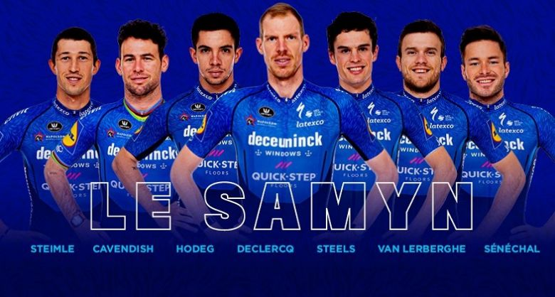 Le Samyn - Deceuninck-Quick Step avec Cavendish, Hodeg et Sénéchal