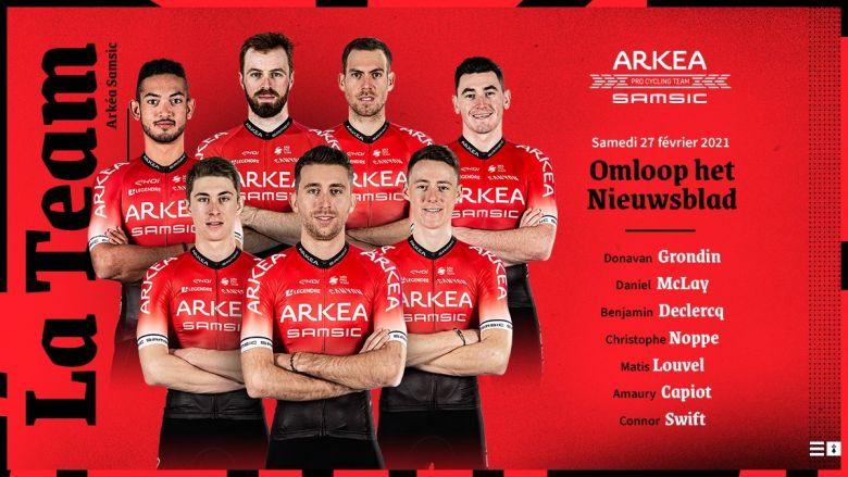 Omloop Het Nieuwsblad - Arkéa-Samsic avec Dan McLay et Amaury Capiot