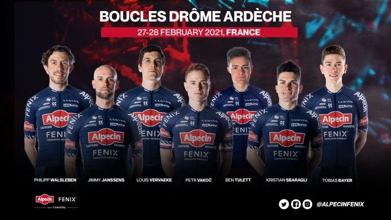 Boucles Drôme-Ardèche - Alpecin-Fenix autour de Petr Vakoc et Vervaeke