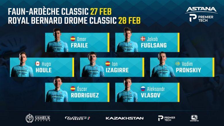 Boucles Drôme-Ardèche - Astana-Premier Tech avec Fuglsang et Vlasov