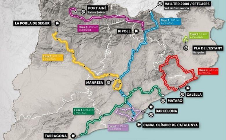 Tour de Catalogne - Le tracé du 100e Tour de Catalogne a été dévoilé