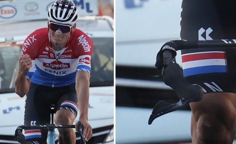 Le Samyn - Mathieu van der Poel a fini Le Samyn avec un guidon brisé !