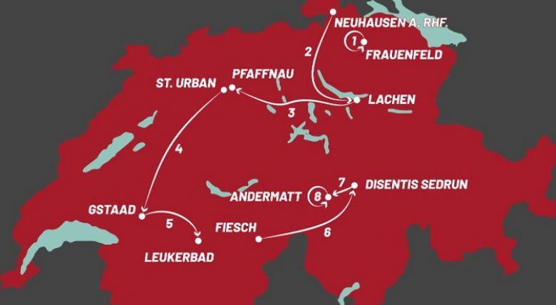 Tour de Suisse - On connaît le parcours du Tour de Suisse 2021