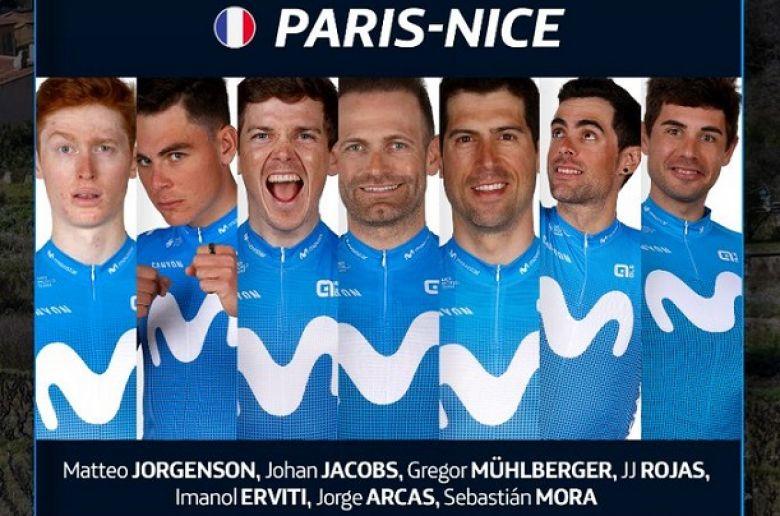 Paris-Nice - Movistar Team avec Gregor Mühlberger, Rojas et Jacobs