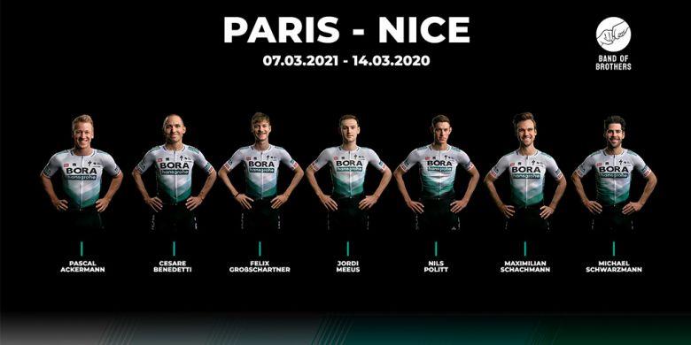 Paris-Nice - La Bora-Hansgrohe avec Schachmann, Ackermann et Politt