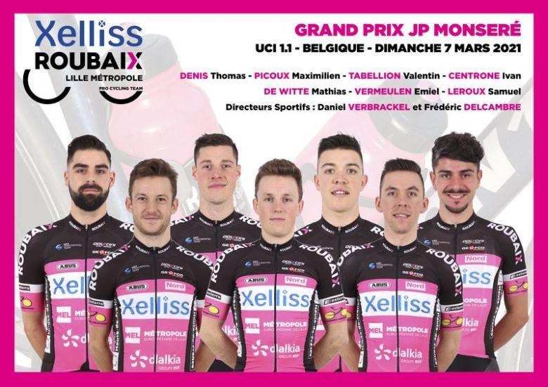 GP Monseré - Xelliss Roubaix Lille Métropole avec Vermeulen et Picoux
