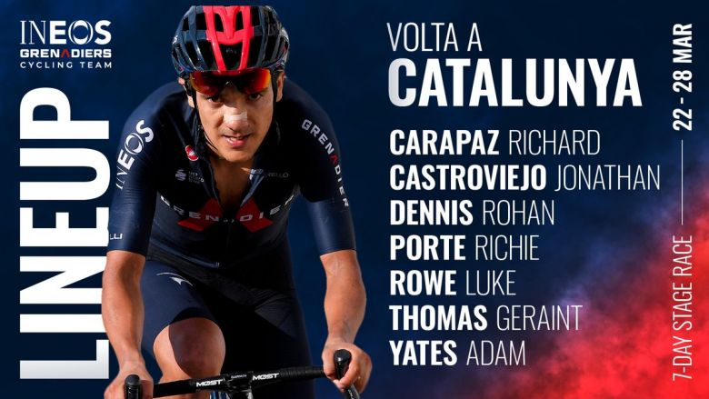 Tour de Catalogne - Carapaz, Yates, Thomas : l'armada INEOS Grenadiers